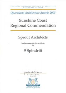 2005 QLD Architecture Awards - Regional Commendation - 9 Spindrift