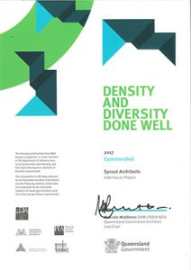 2017 Density and Diversity Done Well - Commendation