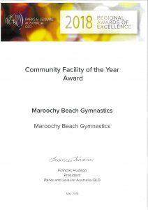 2018 Community Facility of the Year Award